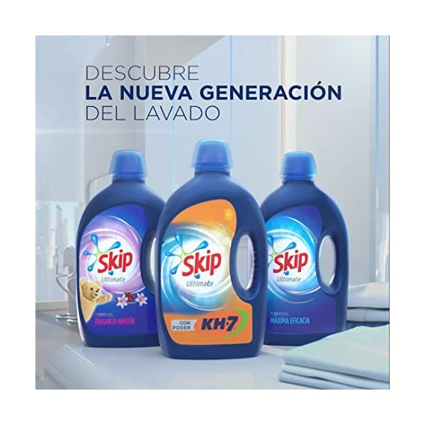 Skip – Ultimate Triple Poder Detergente Líquido Fragancia Mimosín, 65 Lavados