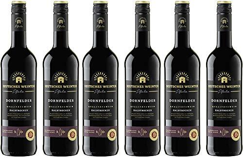 Deutsches Weintor Dornfelder Rotwein Halbtrocken (6 x 0.75 l)