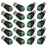 FULARR 20Pcs Profesional BNC Macho Hembra Conector Kit, BNC Video Balun Conector Adaptador, 10 Pares BNC Macho Enchufe & Hembra Socket Tornillo Terminal Bloque Conector Set
