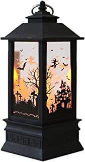 Beyonds 2019 Halloween Large Simulated Flame Candle Lights Pumpkin Ghost Candle Night Lamps LED Tea Light Candles for Halloween Decoration Part Simulated Flame Light Oil Lamp