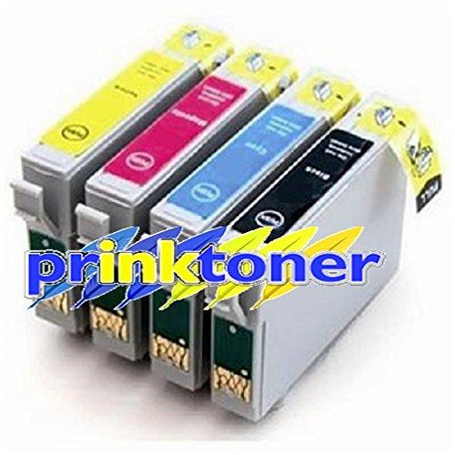 prinktoner Juego completo COMPATIBLES de tinta para Epson Stylus D68, D88, D88+, DX3800, DX3800+, DX3850, DX3850+, DX4200, DX4250, DX4800, DX4800+, DX4850, DX4850+