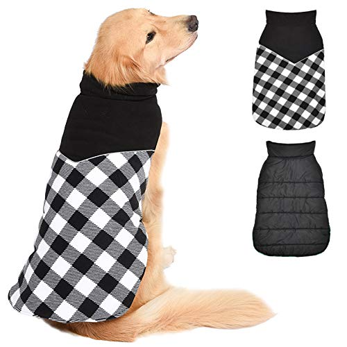 Fragralley Dog Winter Jacket Coat Pet Warm Cold Sweaters Puppy Windproof Vest, Waterproof Dog Apparel for Small Medium Large Dogs