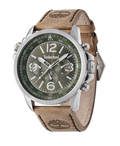 para Hombre Timberland a Campton Reloj Infantil de Cuarzo con Esfera cronográfica y Correa de Piel Color marrón 13910js/19