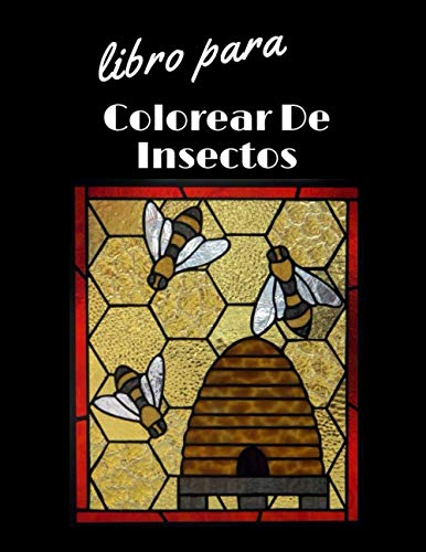 libro para colorear de insectos: (Spanish Edition)