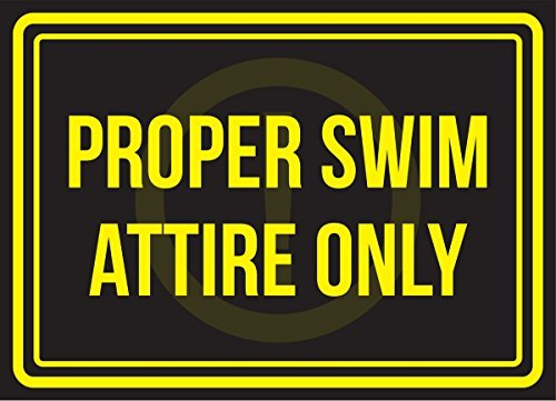 Goede Zwemkleding Alleen zwembad Spa Aluminium Metalen Tekenen Vintage Zakelijke Commerciële Veiligheid Waarschuwing Metalen Tin Tekenen Nieuwigheid Outdoor