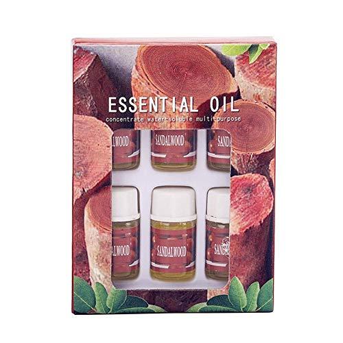 6 unids/caja 100% puro aceite esencial orgánico soluble en agua usado para humidificador purificador de aire difusor quemador de incienso lámpara de aromaterapia rosa jazmín lavanda