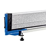 "JOOLA Outdoor Weatherproof Table Tennis Net and Post Set - Waterproof 72"" Regulation Size Ping Pong Screw On Clamp Net - Ideal for Indoor and Outdoor Use"