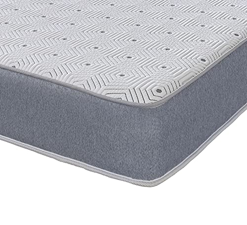 eXtreme comfort ltd Gris Sublime Hybrid Memoria muelles con Capa de Fibra viscoelástica, 137 x 180 cm, colchón Doble de tamaño estándar del Reino Unido (Borde, Espuma, Double Mattress