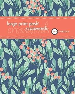 Posh Large Print Crosswords 1: 100 Puzzles (Volume 1)