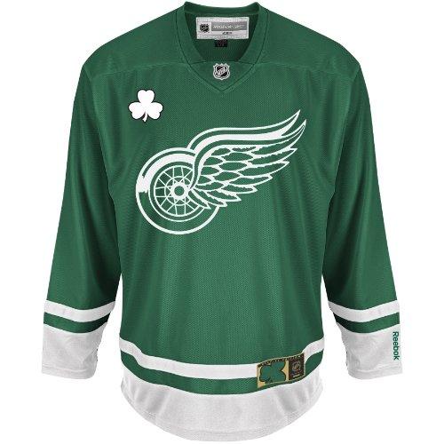 NHL Detroit Red Wings St. Patty's Day Trikot, Jägergrün, Größe S