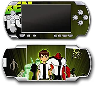 Ben 10 Ten Tennyson Watch Omnitrix Alien Force Ultimate Omniverse Video Game Vinyl Decal Skin Sticker Cover for Sony PSP Playstation Portable Original Fat 1000 Series System