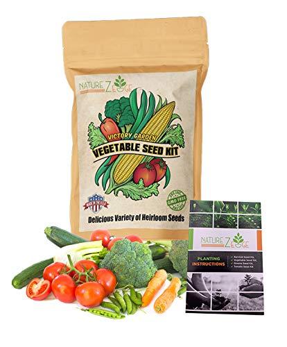 NatureZ Edge Garden Seeds Vegetable Variety Seed Pack, 11 Varieties of Heirloom Vegetable Gardening...
