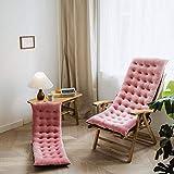 LUNAH Sonnenstuhlkissen, Sitzkissen ist integriert, das Schaukelstuhl-Baumwollkissen, Dickes Herbst...