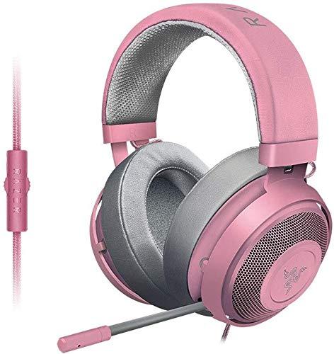 Casque Cristal PC for Les Jeux Mobiles ou vidéo Playbackheadset Rose, Couleur: Rose (Color : Pink)