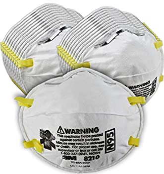 3M Personal Protective Equipment Particulate Respirator 8210 N95 Smoke Dust Grinding Sanding Sawing Sweeping 20/Pack