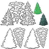 7 piezas de troquelado de metal para árbol de Navidad, AIFUDA Merry Christmas Tree DIY corte para grabar en relieve tarjetas para hacer fotos de papel decorativo para álbumes de recortes