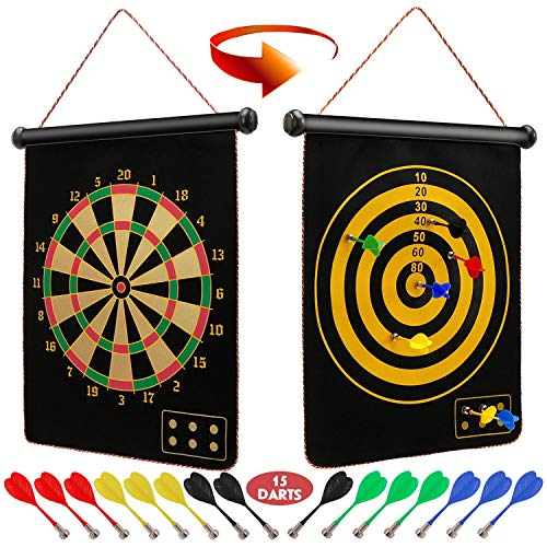 Ranslen Magnetic Dart Board for Kids and Adults,...