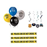 Police Party Supplies, 37 Piece Cop Party Decorations Kit