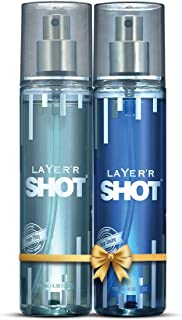 LAYER'R SHOT Silver Combo for men Pack of 2 Power Play, Deep Desire Body spray