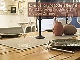 Luxflair XXL Tischläufer Tischband aus edlem Filz, modern, Graumeliert (+ weitere Farben), ca. 40x150cm, abwaschbar. Schlichtes Tisch-Accessoire - 3