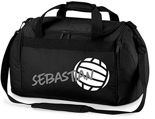 Sporttasche mit Namen | Motiv Volleyball | Bedrucken & Personalisieren | Reisetasche Umhängetasche Schuhtasche für Kinder & Erwachsene Jungen & Mädchen