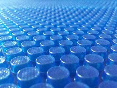 well2wellness® Pool Solarfolie blau fertig konfektioniert für Ovalbecken 7,30 x 3,70 m