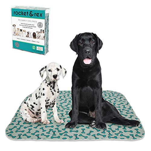 rocket & rex Dog Pee Pads. Washable, Reusable, Waterproof and Absorbent, Better for The Environment, Protects Floors and Rugs. Easy Cleanup.