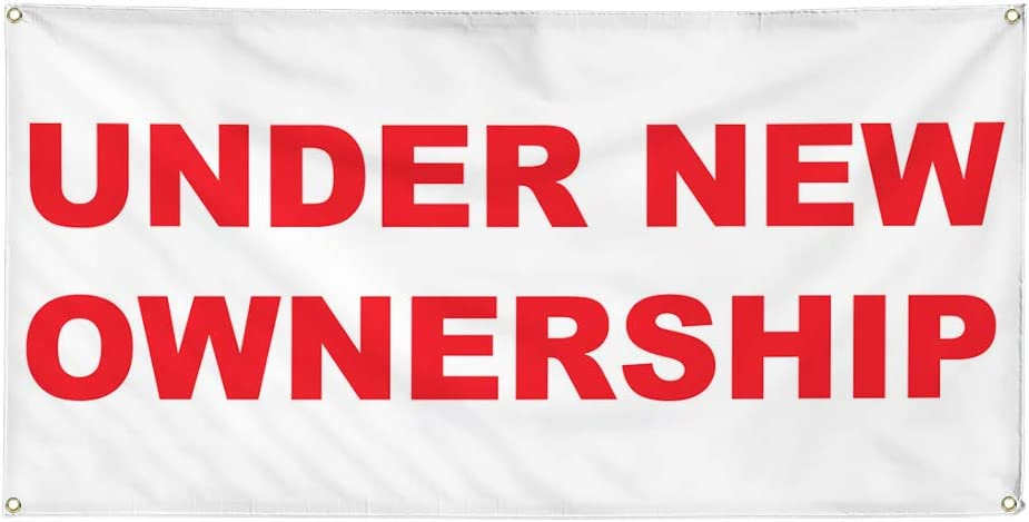 Vinyl Banner Multiple Sizes Under Business Red New Ownership Out Daily bargain sale Limited time sale