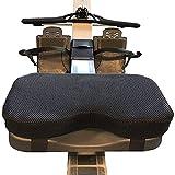 ZHIRCEKE 32 cmRudergerät Sitz Memory Foam Kissen,mit abwaschbarer Abdeckung,rutschfest Schweissfest Langlebig für Rowing Rudergerät 1Pcs