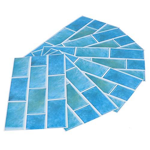 Etiqueta autoadhesiva para azulejos de papel tapiz de cocina, calcomanía de pared tridimensional a prueba de humedad PVC decoración de pared práctica para uso doméstico en la cocina