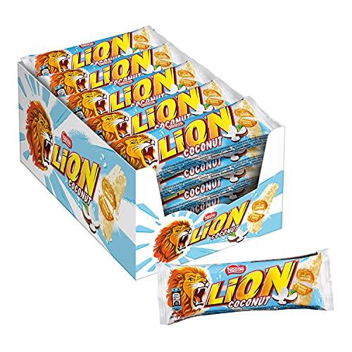 LION COCONUT Snack con Wafer Toffee al Cocco e Cereali Ricoperti di Cioccolato al Latte 24 Snack da 40g