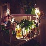 DIKHBJWQ 10 LED Light Clamp Hohl Tischlampe String Licht Outdoor Nachttischlampe Weihnachtsfeier Nachtlicht Bilder Dekor Lichterkette Lampe Gartendekoration LED