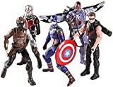 JXXDDQ Toys Avengers 3/4 Titan Hero Series Model Toy Set - 6 Pulgadas Capitán América / Winter Warrior / Ant Man / Eagle / Hawkeye Toy Boy Action Theory Set