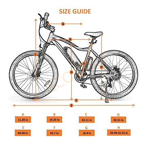 """51FPuPJ8LvL. SL500 Ecotric Electric Mountain Bike 26"""" with 500W Motor"""