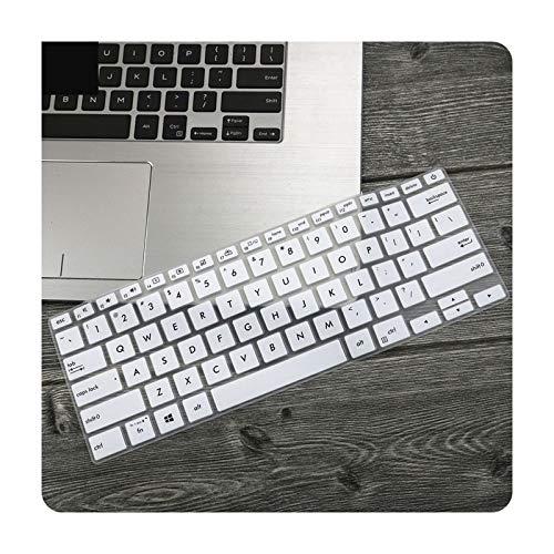 Funda protectora de teclado para portátil Asus Zenbook 14 UX433 UX433F Ux433Fn UX433FLC UX433FAC Ux433Fa-blanco