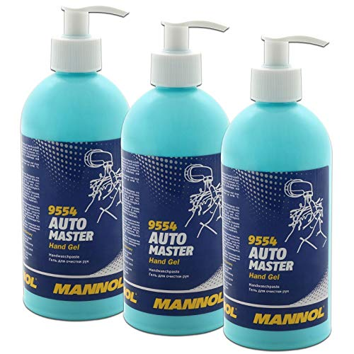 3 x 500 ml Handwaschpaste Hand Gel Mannol Spender Werkstatt Seife Handreiniger Waschpaste