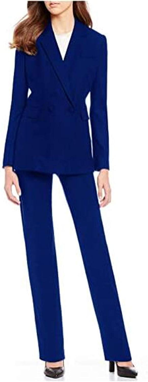 Plus Size Women's Pantsuits 2 Pieces Slim fit Blazer Tuxedo Pants & Jacket Set Prom