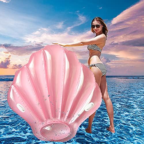 Aufblasbare Shell Luftmatratze, Aufblasbarer Jakobsmuschel Luftmatratze Pool Party für Erwachsene