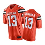 Jersey de Football de Football Béckhǎm Jersey de Football américain, Nouveau t-Shirt à Manches Courtes, Manches Courtes Respirantes à séchage Rapide Orange-S