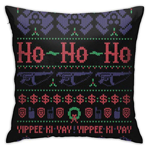 Lawenp Ho Ho Christmas Sweater Dormitorio Fundas de Almohada Fundas de Almohada Decorativas para el hogar Sofá Funda de Almohada Cuadrada 18x18 in