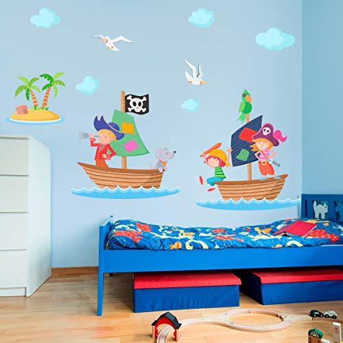 Vinilo decorativo infantil de piratas.