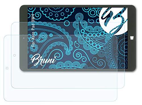 Bruni Schutzfolie kompatibel mit Xoro Pad 9W4 Folie, glasklare Bildschirmschutzfolie (2X)
