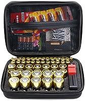 Surdarx Batteries Organizer Storage Holder, Included Battery Tester BT-168, Keeper Bag Hard-top Carrying Case Box- Holds...