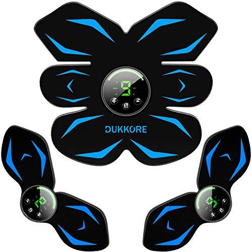 【2021改良モデル】 DUKKORE EMS 腹筋ベルト 液晶表示 USB充電式 腹筋パッド ジェルシート10枚追加 腹筋 腕筋 多部位対応 6種類モード 9段階強度調整可能 男女兼用 日本意匠登録済み (ブルー)