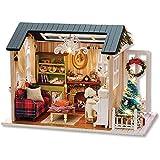 JDJFDKSFH DIY Mini Doll House Kit de la casa de muñecas de Madera Accesorios de la casa con el Juego de Muebles Modelo de Juguete Modelo de la casa Casa Hecho a Mano Juguetes