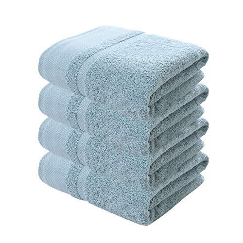 DLRBWAN Toallas de baño, 2/4100% Set de Toallas Gruesas de algodón Puro, Conjunto de Toallas de baño de Color sólido, Hotel para Adultos Familia para niños Toalla de Mano para niños