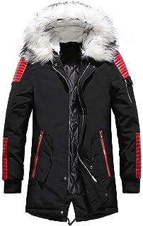 Parka da uomo con cappuccio e cappotto in pelliccia sintetica Giovane Abiti da festa Giacca funzionale Giacca da esterno G...