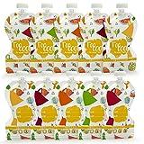 Sweety Fox - Lot de 10 Gourdes Réutilisables 150ml - No PVC et BPA - Double Zip...