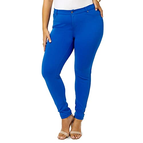 Royal Blue Plus Size Skinny Pants: Amazon.com