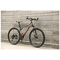 ライフアクセサリーフォークサスペンションマウンテンバイク、26インチホイール高炭素鋼フレームメカニカルディスクブレーキ、2130スピードドライブトレイン
